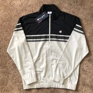 Men's Champion Black&White Athletic Track Jacket